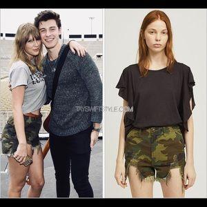 R13 High Rise Camo Camp Shorts ASO Taylor Swift 26